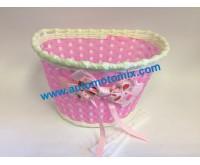 Детска вело кошница за багаж-розова