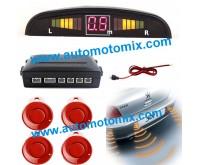 Парктроник с дисплей - 4 червени датчика