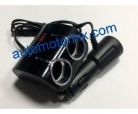 РАЗКЛОНИТЕЛ ЗА ЗАПАЛКА 24V+USB 02