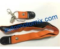 Ключодържател ластик- оранжев